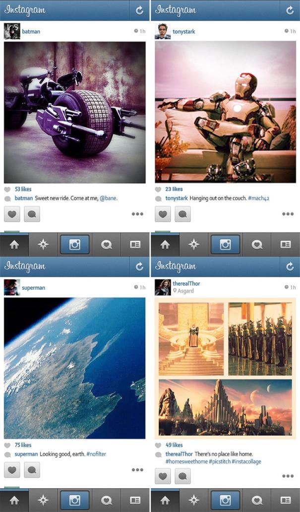 instagram dos herois